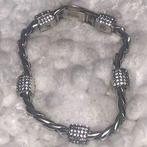 Brighton ~ Swarovski Crystal Silvertone Bracelet